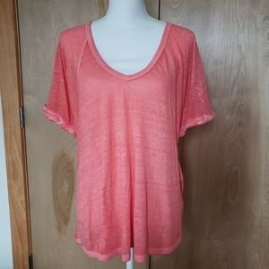 Free People We The Free Burn Out Oversize Tee
